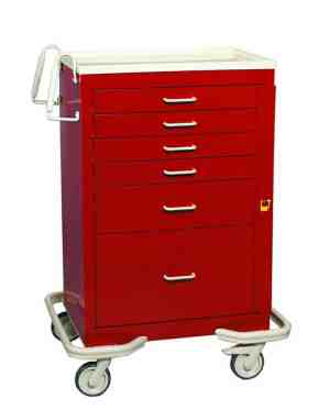 Emergency Crash Cart - Standard 6 Drawer - BEST SELLER