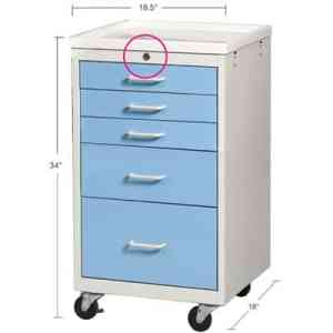 MMC-524 Anesthesia Mini Cart