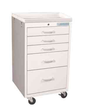 Anesthesia Carts (Mini Electronic Lock - 5 Drawer Cart) - MME-524