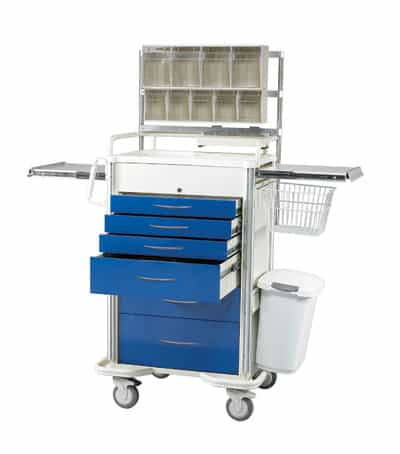 Select Series 5 Drawer Locking Anesthesia Cart - SAP-A Package