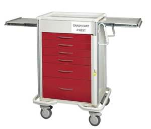 "Emergency Crash Cart - Select Series 6 Drawer with 27"" Lockbar"