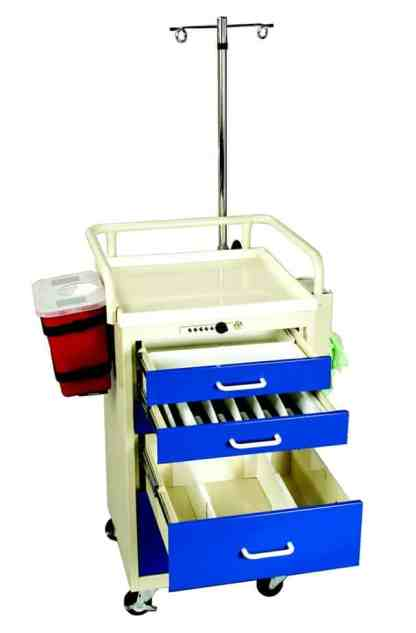 4 Drawer Anesthesia Mini Tower with Electronic Lock