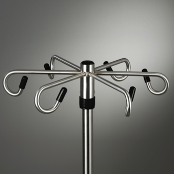 Six-Leg, Space Saver, Heavy Duty, 6-Hook Infusion Pump Stand