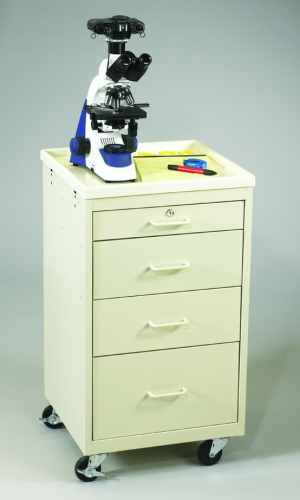 4 Drawer Super Value Mini Bedside Medical Cart