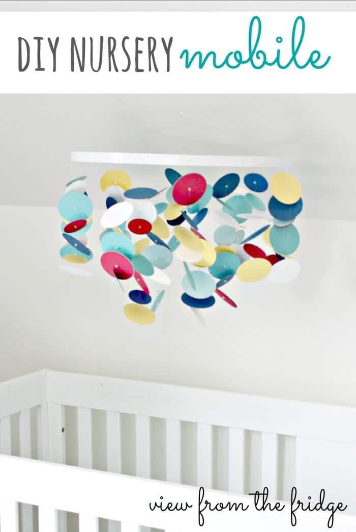 DIY Custom Nursery Mobile on View from the Fridge in the Summer Spotlight