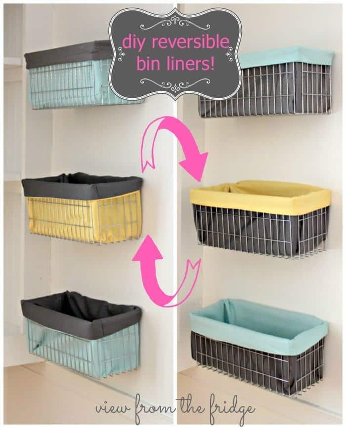 DIY Reversible Wire Bin Liners on View from the Fridge in the Summer Spotlight
