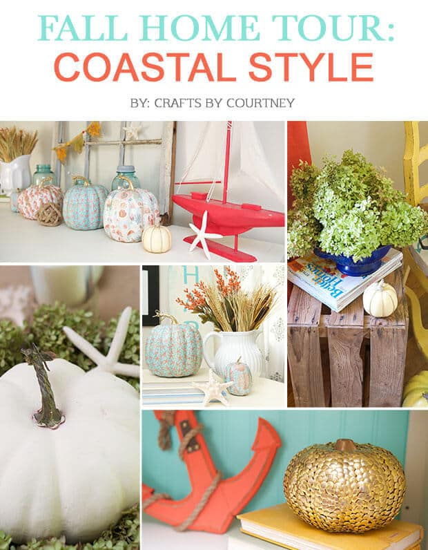 Fall Home Tour Coastal Style from Crafts By Courtney in the Summer Spotlight
