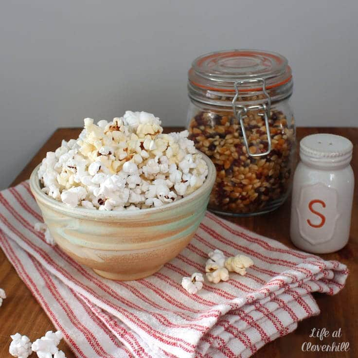 diy microwave popcorn in a bowl a