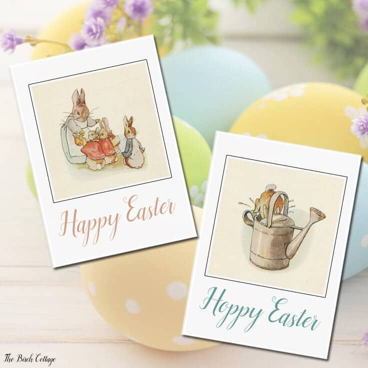 Easter Cards Free Printable Vintage Designs For Kids And Adults