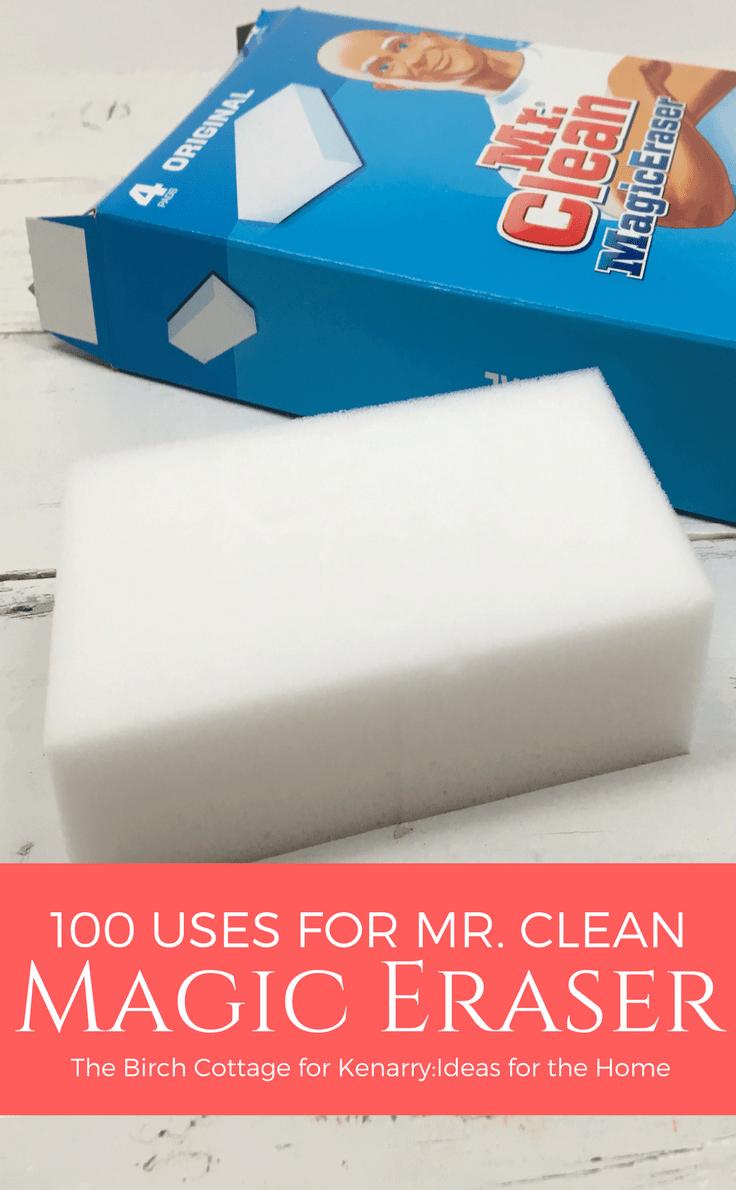 for mr clean magic eraser uses