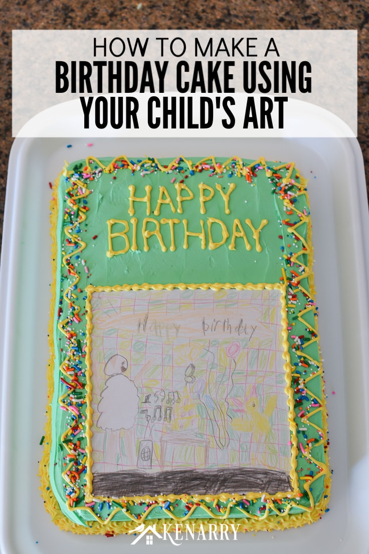 Art Cake Easy Birthday Party Idea Using Kid S Artwork Ideas For The Home