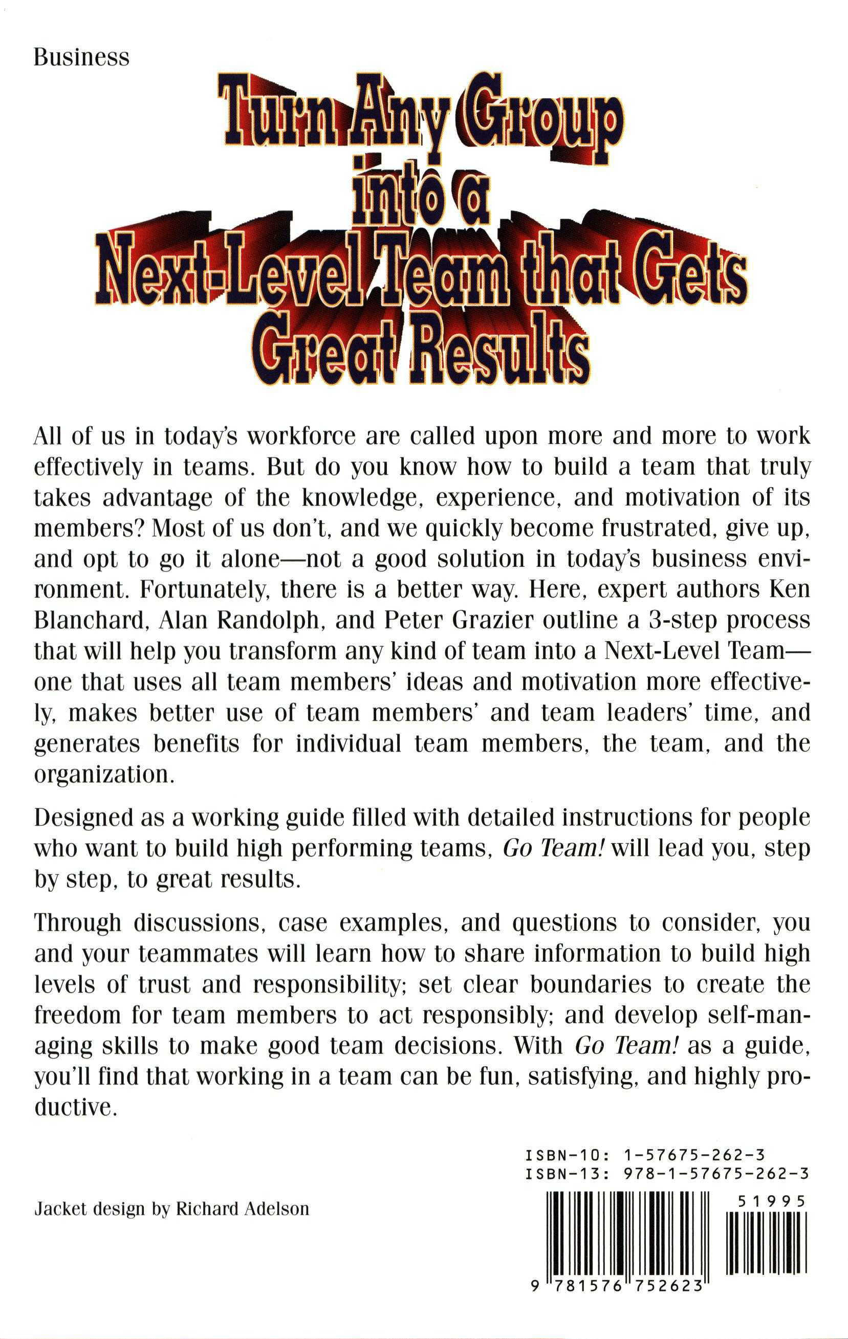 Go Team Take Your Team To The Next Level Ken Blanchard