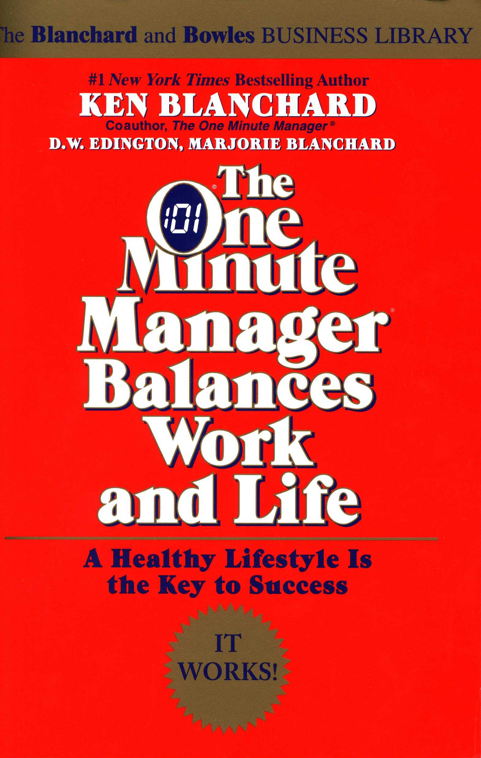 Front The One Minute Manager Balances Work And Lif 2