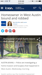 Realtor Self Defense -Homeowner Bound and Robbed