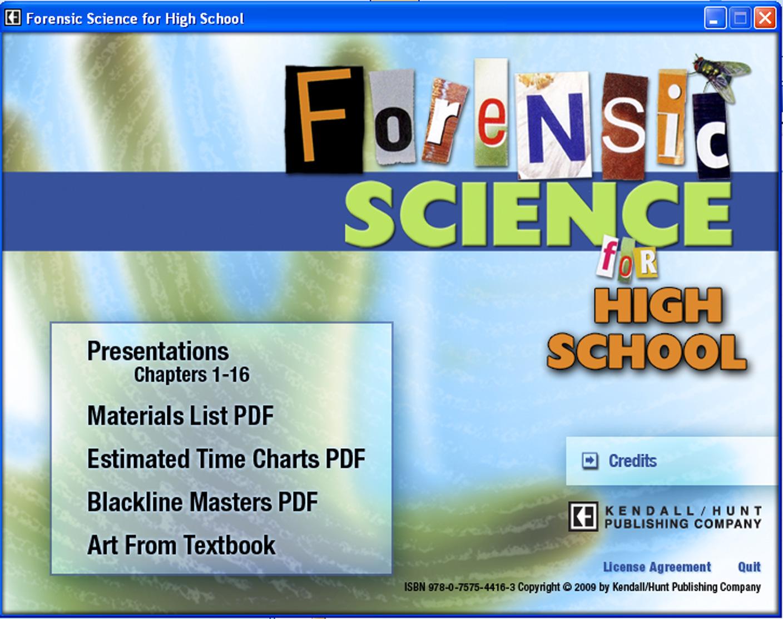 Forensic Science Sneak Peek