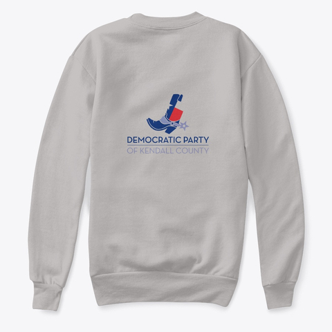 Kendall County Democratic Party logo sweatshirt