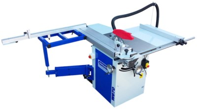 W670 12″ Panel Saw with Sliding Beam, right hand panel attachment & rear table 3hp / 16amp