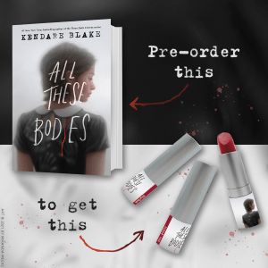 image of Marie's Blood Red lipstick preorder gift