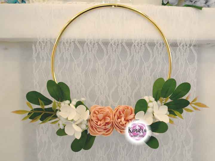Hoop Bouquet peonie ed ortensie