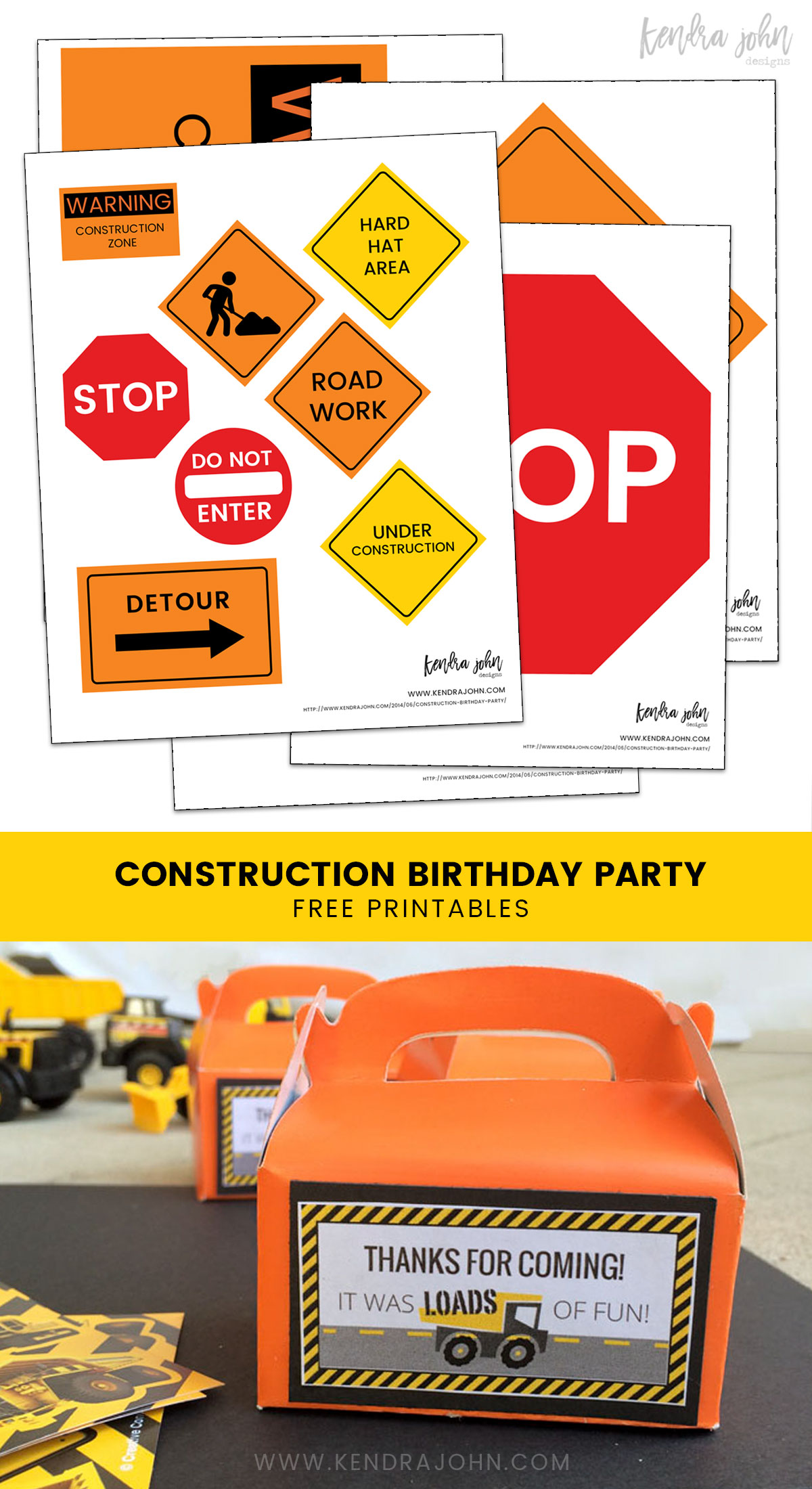 Simple Construction Birthday Party Ideas Plus Free Printables