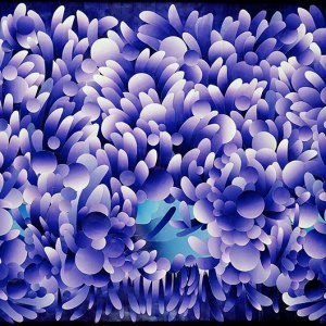 flowering river silkscreen construction collage
