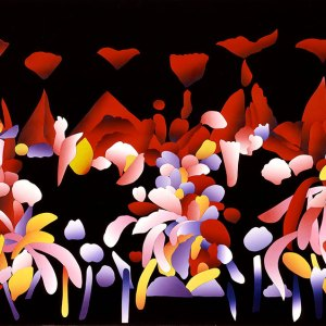 ripe fruit, 1993 silkscreen construction collage by ken falana