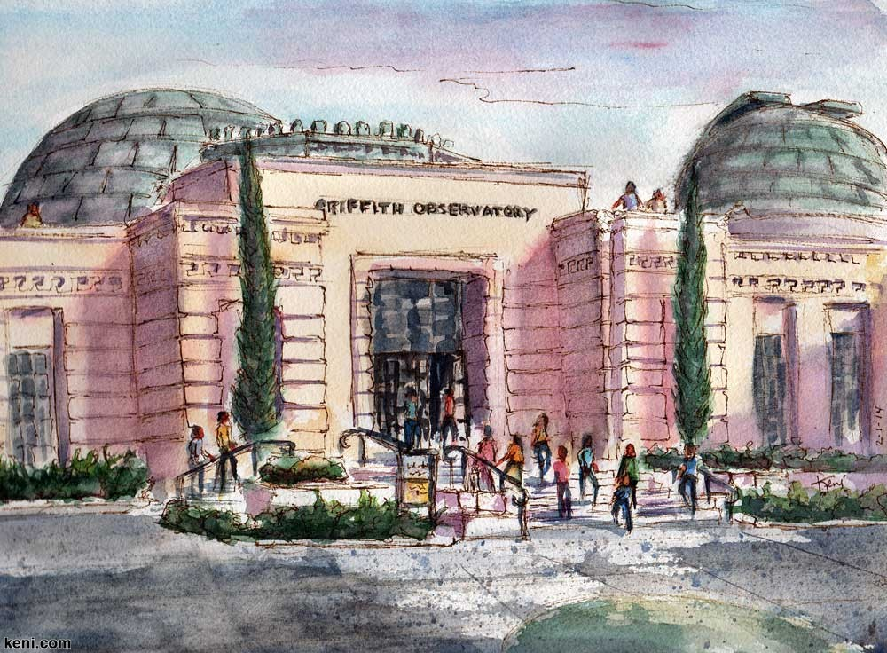 Painting En Plein Air at Griffith Observatory