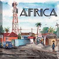 Africa-Button