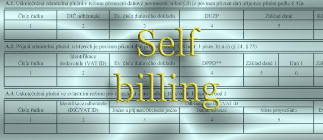 Jak se neutopit v kontrolním hlášení – Self Billing
