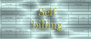 Kontrolní hlášení self billing