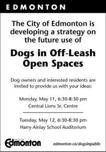 Dogs in Off Leash Consultation flyer