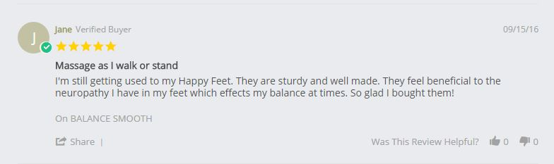 customer personal testimony relief of neuropathy from kenkoh massage sandals