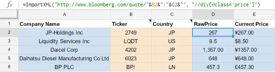 Google Sheet for Global Stocks - Kenkyo Investing