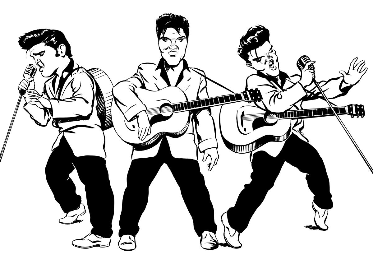 Elvis Presley Ken Lowe Illustration
