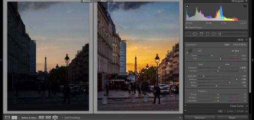 Lightroom Develop Module - Before and After
