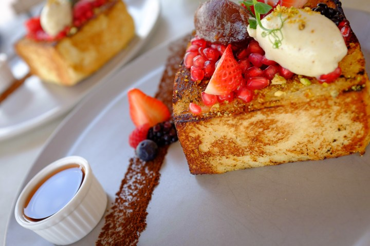 French Toast for brunch at the Creekside Café on the banks of Dubai Creek in Dubai