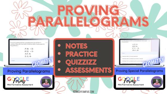 Teaching Proving Parallelograms