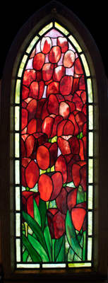 Tulip Framed Stained Glass Panel © David Kennedy 2011