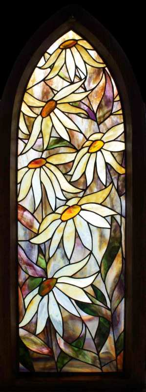 Daisies Stained Glass Panel