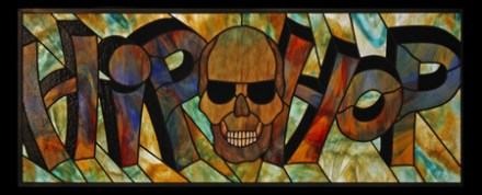 Hip Hop Un-framed Stained Glass Panel © David Kennedy 2011