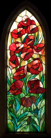 Poppies Panel in Gothic Frame