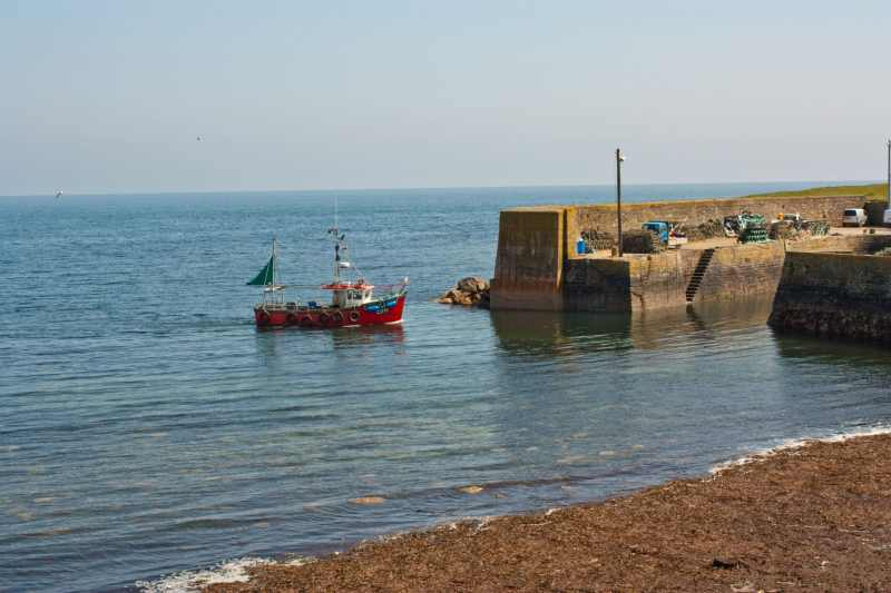 Fishing boat at Slade harbour