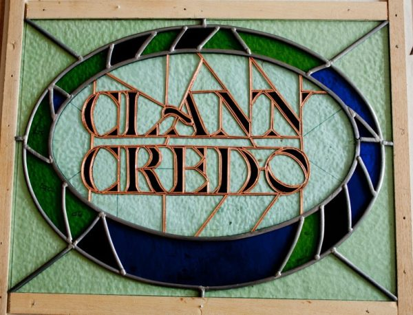 Clann Credo with lettering foiled