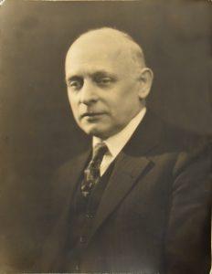 Mr Joseph Briggs, head of the Mosaic Department at Tiffany Studios.