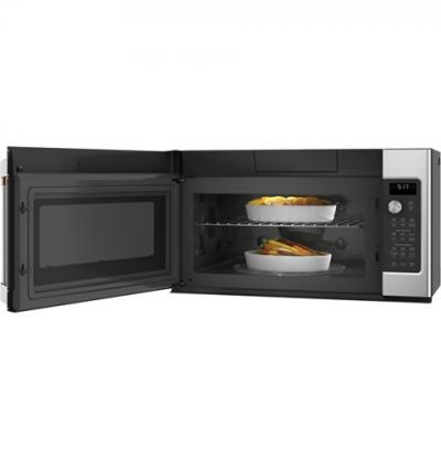 ge cafe 1 7 cu ft convection over the range microwave oven cvm517p2ms1