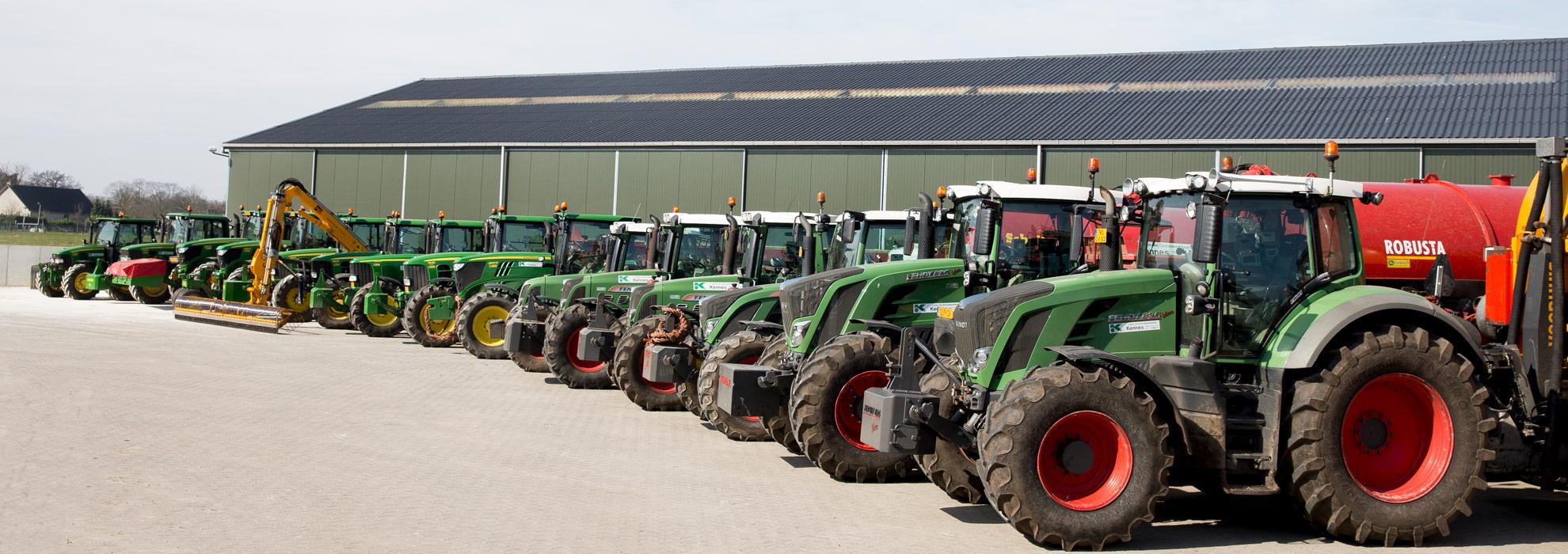 Loonbedrijf Kennes machinepark tractoren