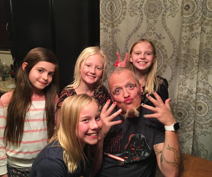 Being silly for 4 girls