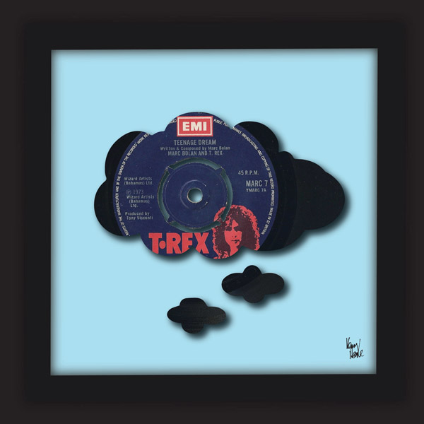 Teenage Dream - T Rex [Marc Bolan] (1973) - Kenny Deane limited edition  vinyl art