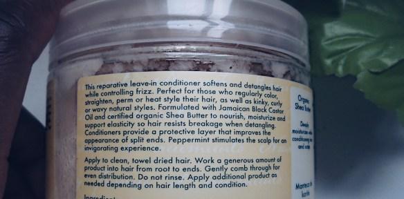 Shea moisture Jamaican Black Castor Oil Leave in conditioner