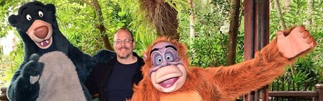 Baloo and King Louie meet and greet at Animal Kingdom in Walt Disney World